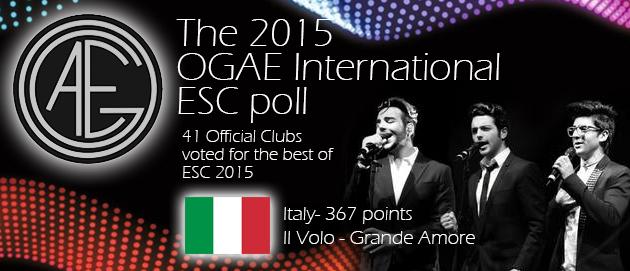 OGAE ESC Poll 2015 - Il Volo