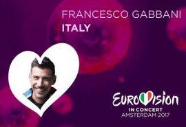Eurovision 2017 – Francesco Gabbani stasera all'Eurovision in Concert di Amsterdam
